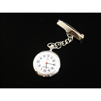 SIlver Nurses Watch Medium with Date on Chain
