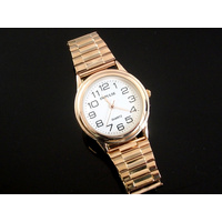 Rose Gold Stretch Band Expander Watch - Medium Sized
