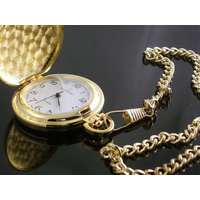 Smooth GOLD Pocket Watch WHITE Classic Dial 45mm