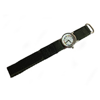 Kids Teaching Watch Water Resistant - Army Green Velcro Band