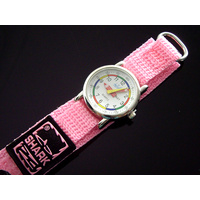 Kids Teaching Watch Water Resistant - Light Pink Velcro Band