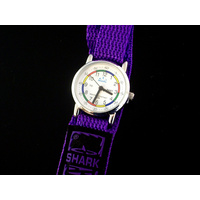 Kids Teaching Watch Water Resistant - Purple Velcro Band