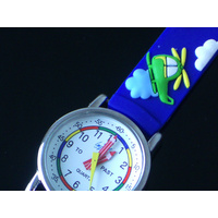 New Boys Time Teaching Watches HELICOPTER AND PLANES Cool Boys Watch - FREE POST