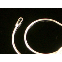New Smooth STERLING SILVER SNAKE CHAIN 1cm Wide and 16 inches / 41cm Long  !!!