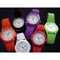 Coloured Ladies Watches SMALL Stretch Expander Band 6 Colours