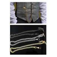 Single Albert Pocket Watch Chains in Gold Silver or Black
