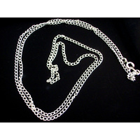 Fine Silver Necklace Chain 70cm 2mm - Turn Pocket Watch into Pendant Necklace