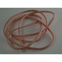 Pink Leather Strip - Attached Pendant for a Necklace 87cm Long and 3mm Wide  !!!