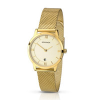 Ladies Watch Gold Metal Band with Champagne Dial