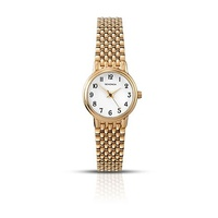 Ladies Gold Watch with Easy to Read Numbers