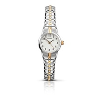 Petite Ladies Two Tone Stretch Band Watch 18mm Dial