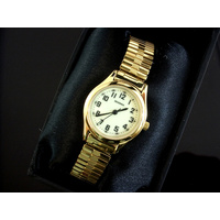 Ladies Gold Stretch Band Watch Luminous Dial WR30m
