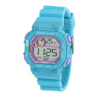Fiesta Digital Girls Watch Aqua and Purple Water Resistant 100m