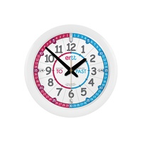 WALL CLOCK 29cm Red Blue Teaching Dial Past/To