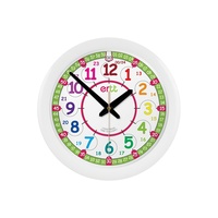 WALL CLOCK 29cm Colourful Teaching Dial 24hr