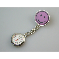 Nurses Lapel Watch Happy Smile Face in 7 Colours
