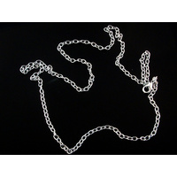 Silver Necklace Chain 60cm 3mm wide -Turn Pocket Watch into Pendant Necklace