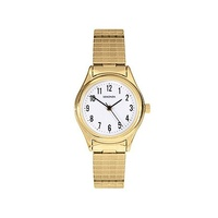 Ladies Gold Watch Stretch Band with Clear White Dial by Sekonda