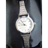 Ladies Stylish Silver Stretch Band Watch - Expander Band
