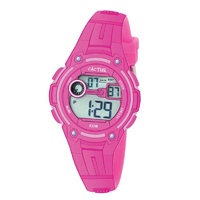 Hot Pink Kids Digital Watch DIVE 100M Water Resistant