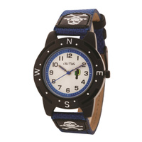 Buccaneer Kids Watch Skull and Crossbones Black Blue Band