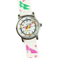 Fashionista Girls Watch Shoes Hangbags on White Band Time Teaching Dial