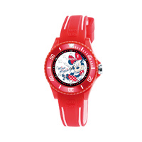 Kids Red Minnie Mouse Soft Comfortable Rubber Band Watch