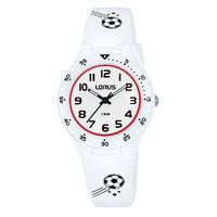 Soccer Kids Watch Water Resistant 100m Lorus White
