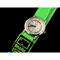 Kids Teaching Watch Water Resistant - Green Velcro Band