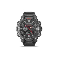 Mens Analogue and Digital Watch Grey/Red WR 100m