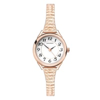 Ladies Watch Rose Gold Stretch Band Expander Watch