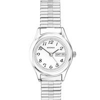 Ladies Silver Stretch Watch with Date