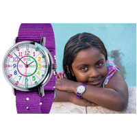 Purple WATERPROOF Girls Watch TO PAST Teaching Dial